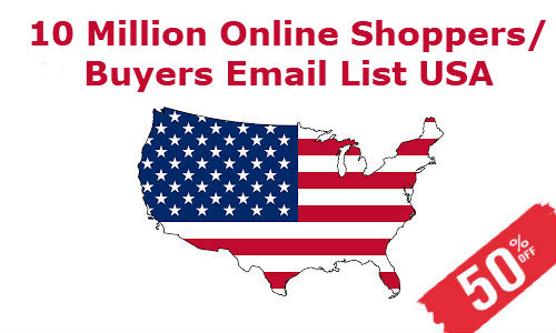 Online Shoppers Online Buyers Email List