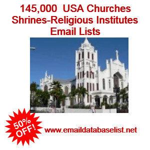 USA churches email list