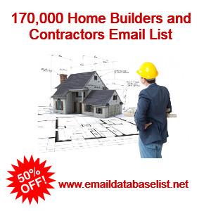 home builders contractors email list