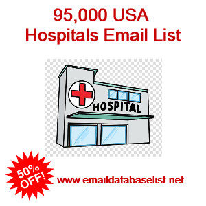 Hospitals email list usa