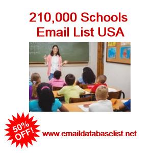 usa schools email list