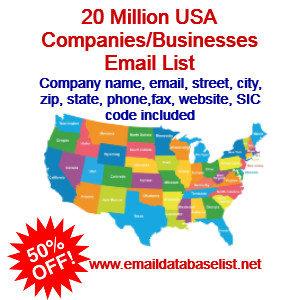 USA companies email list