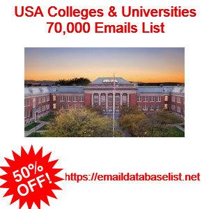 usa college email list