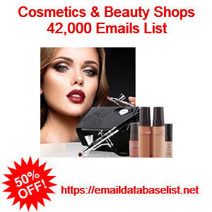 cosmetic beauty shop email database