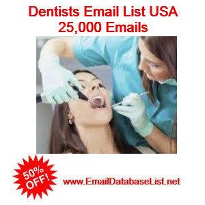 dentist email database usa