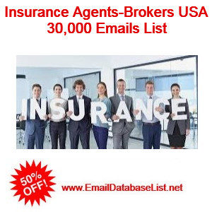 insurance agents email list